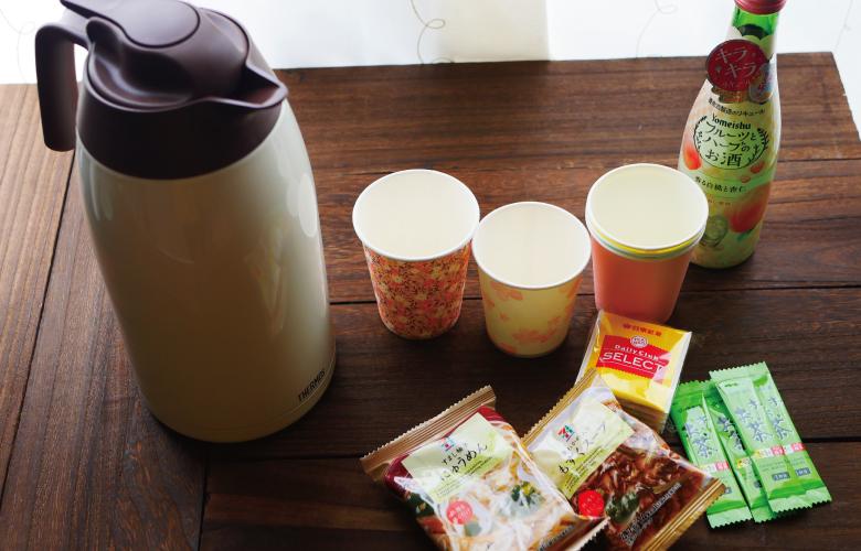 お湯とお茶、カフリーズドライ商品など
