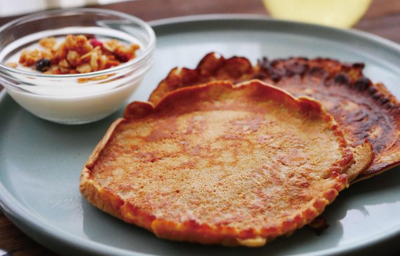 プロテインパンケーキの作り方
